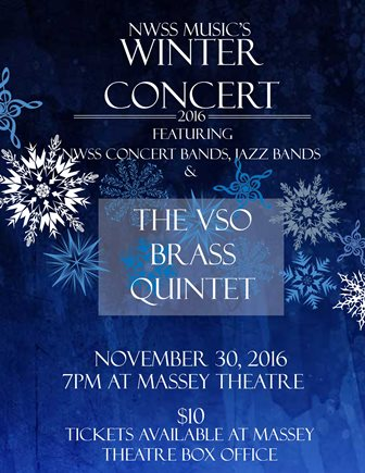 Poster for NWSS Music's Winter Concert Nov. 30.