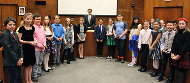 New Westminster Schools' incoming May Day Royal Suite with Mayor Jonathan Coté at City Hall March 6, 2017.