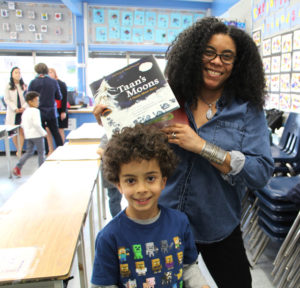 Tonya Martin, a parent and local book publisher, with her son, a Lord Kelvin student.