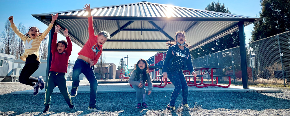 Outdoor Covered Play and Learning Centres at four schools